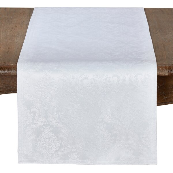 Wilk Damask Table Runner by House of Hampton