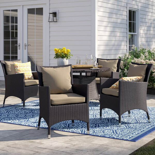 Brentwood Deep Seating Patio Chair with Cushions (Set of 4) by Sol 72 Outdoor Sol 72 Outdoor