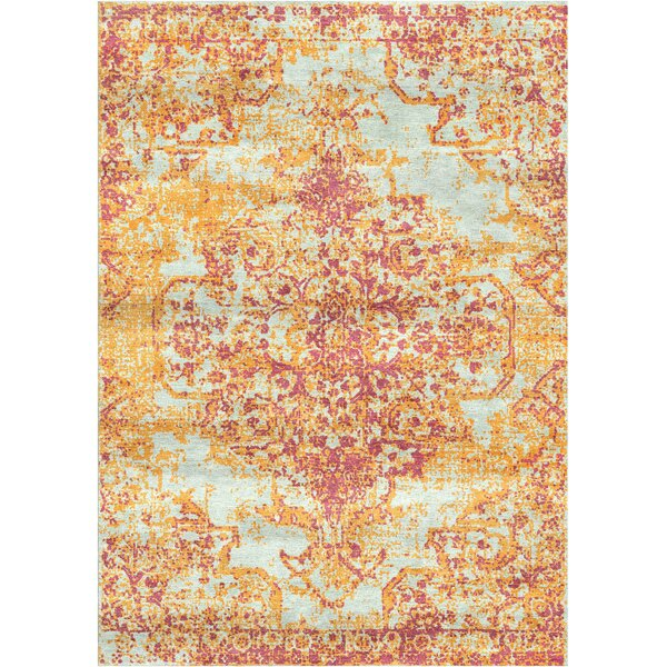 Aliza Handloom Pink/Brown Area Rug by Bungalow Rose