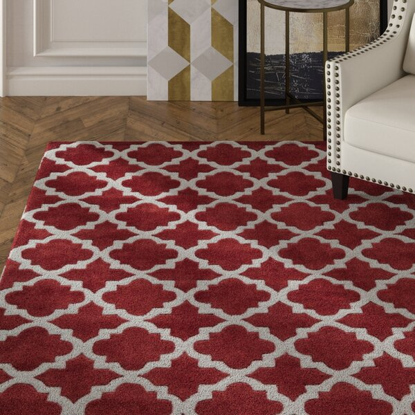 Edie Hand-Tufted Red Area Rug by House of Hampton