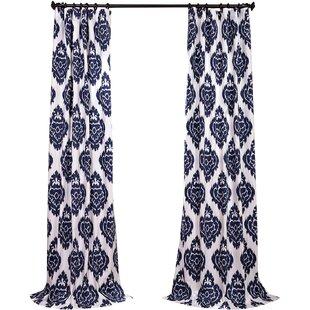 Atkins Ikat Room Darkening Tab Top Single Curtain Panel