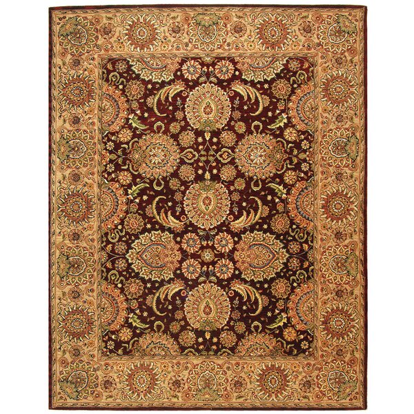 Persian Court Oriental Hand-Tufted Burgundy/Beige Area Rug by Safavieh