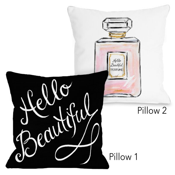 Aldrich Hello Beautiful 2 Piece Throw Pillow Set by House of Hampton
