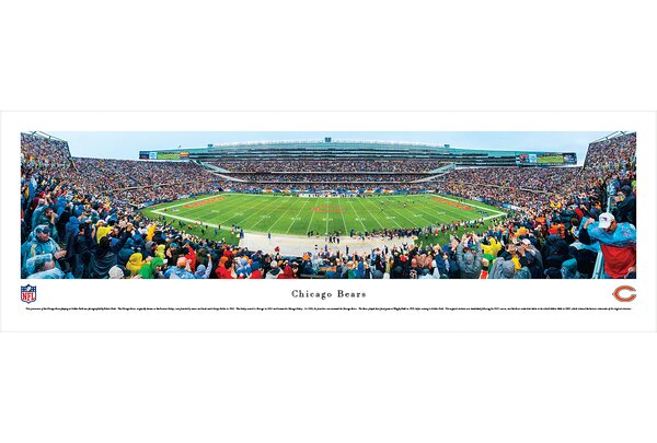NFL Chicago Bears - 50 Yard Line by Robert Pettit Photographic Print by Blakeway Worldwide Panoramas, Inc