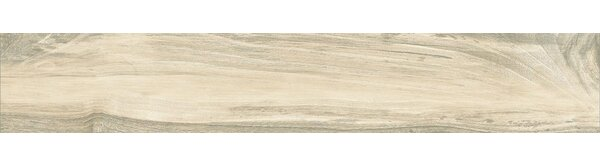 Acero 6.5 x 40 Porcelain Wood Look Tile in Light Brown by QDI Surfaces