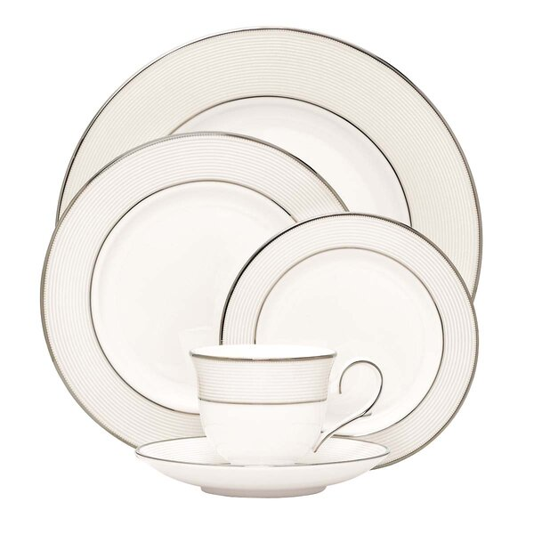 Opal Innocence Stripe Bone China 5 Piece Place Setting, Service for 1 by Lenox