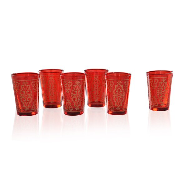 Moroccan Tea 4 oz. Crystal Every Day Glass (Set of 6) by Divine Designs
