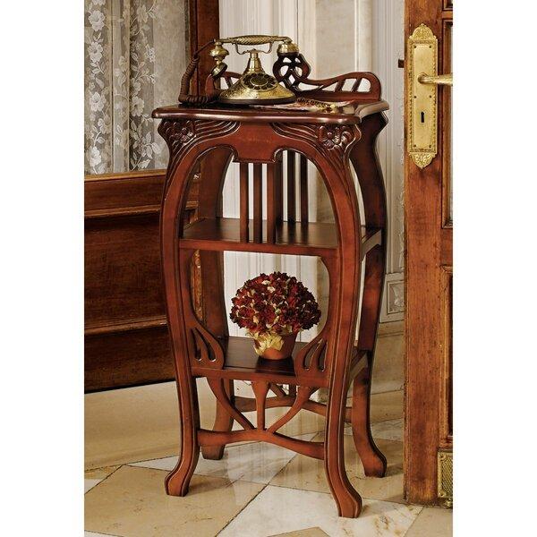 Art Nouveau Harp End Table By Design Toscano
