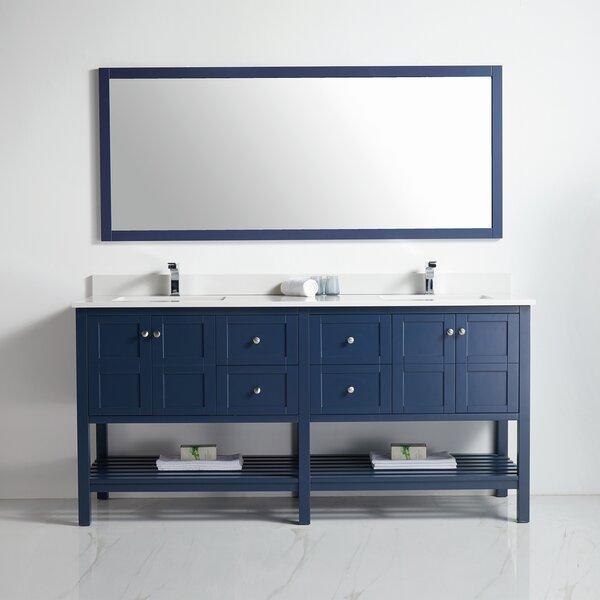 Townville 71 Double Bathroom Vanity Set