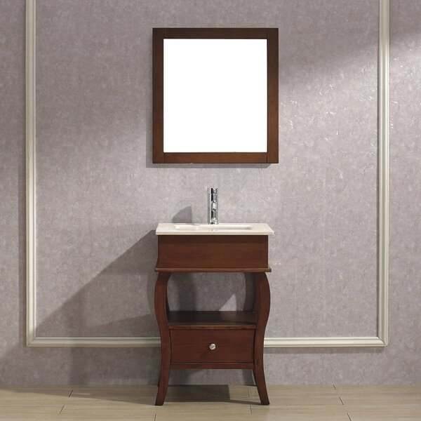 Winzer 24 Single Bathroom Vanity Set with Mirror by Bauhaus Bath