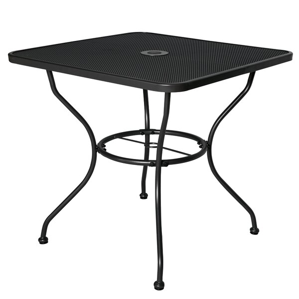 Courtois Stainless Steel Dining Table by Fleur De Lis Living