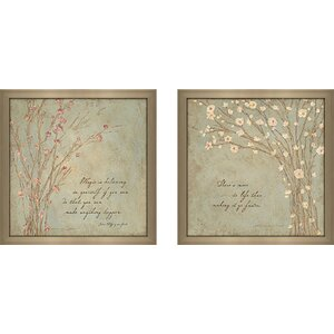Life' 2 Piece Framed Graphic Art Print Set Under Glass by Ophelia & Co.