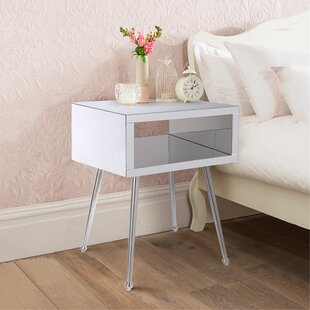 Andie 1 - Drawer Nightstand in Silver by Everly Quinn