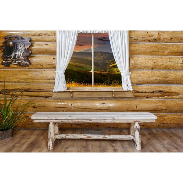 Tustin Solid Wood Bench by Loon Peak Loon Peak