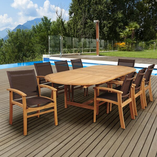Hillsford 9 Piece Teak Dining Set by Beachcrest Home