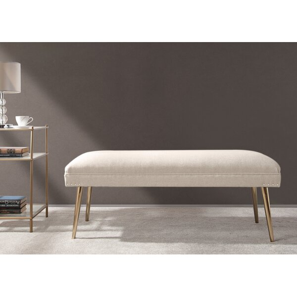 Sunni Upholstered Bench by Everly Quinn