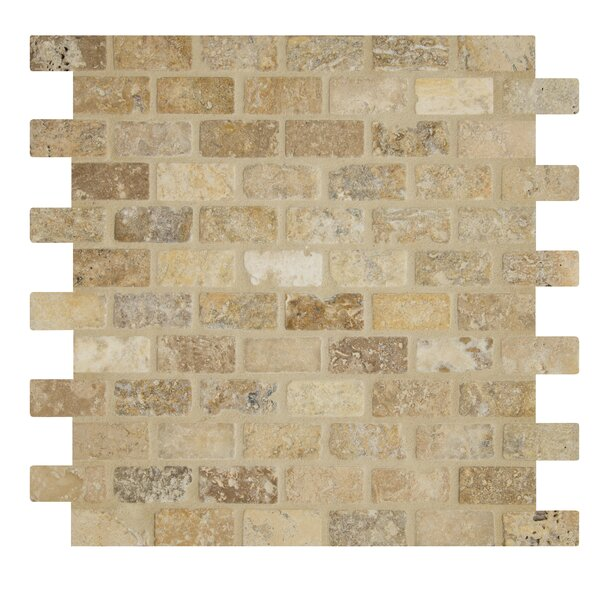 Tumbled Tuscany Mesh Mounted 12 x 12 Natural Stone Mosaic Tile by MSI