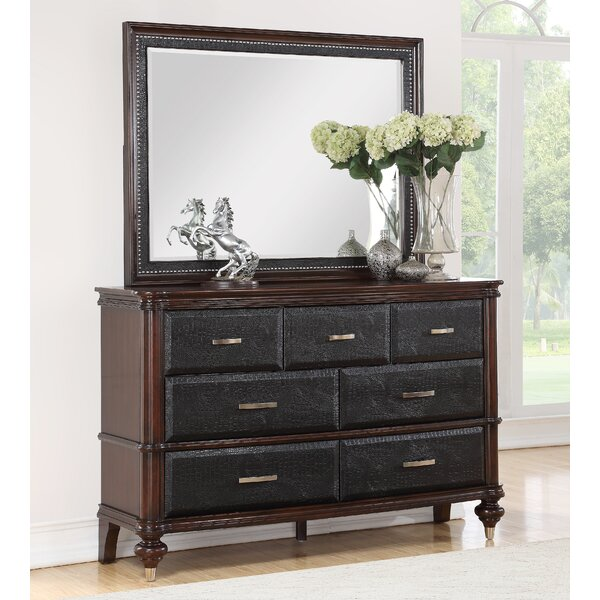 Bohemia Luxury 7 Drawer Dresser with Mirror by World Menagerie