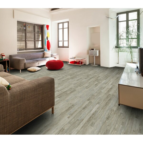 Berkley Lane 5 x 51 x 12mm Tile Laminate Flooring in Whitewashed Block Pine by American Concepts