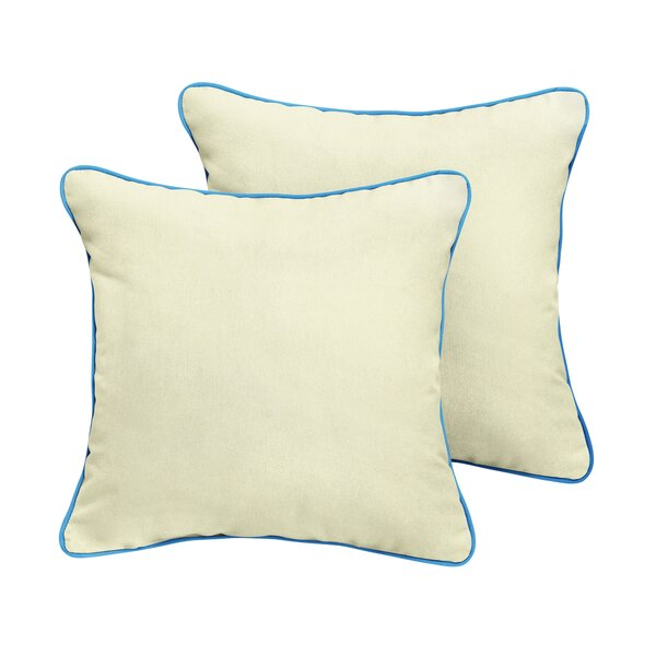 Lynnhaven Sunbrella Outdoor Throw Pillow (Set of 2) by Rosecliff Heights
