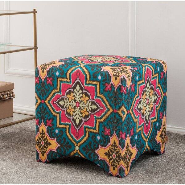 Pineda Cube Ottoman by Bungalow Rose