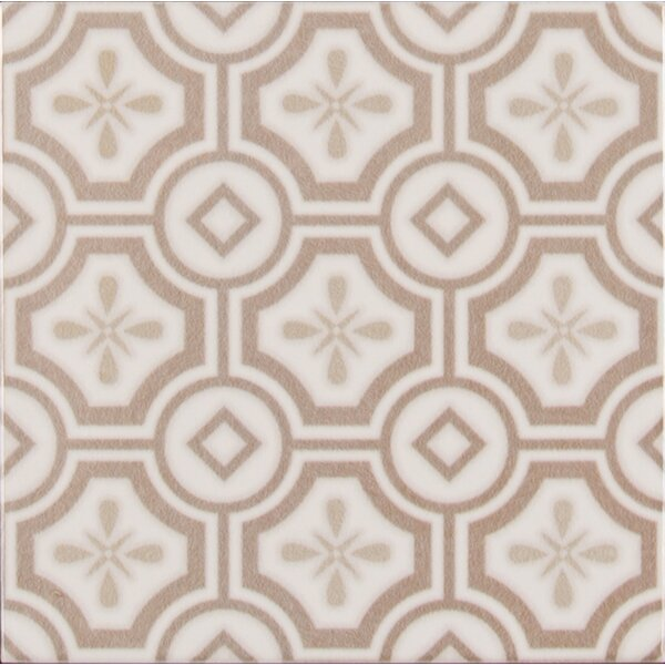 Kenzzi Leira 5.2 x 5.2 Ceramic Patterned Tile in Beige by MSI