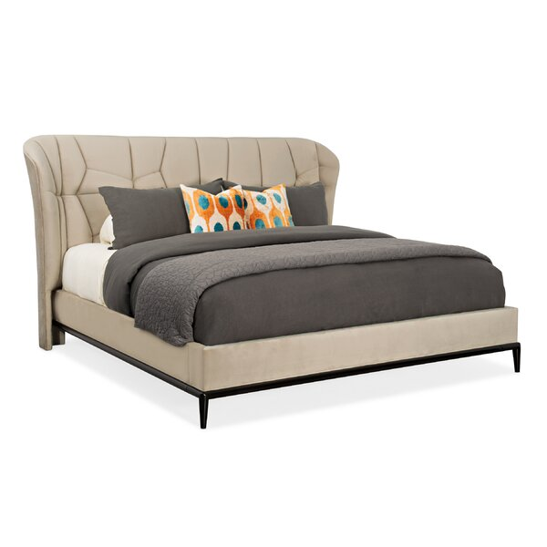 Modern Edge Vector Upholstered Platform Bed by Caracole Modern