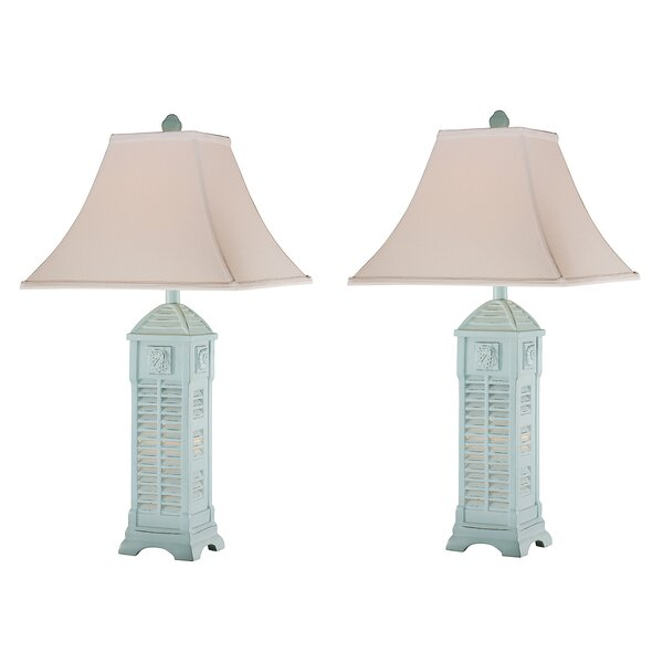 Carys Shell 30 Table Lamp (Set of 2) by Highland Dunes