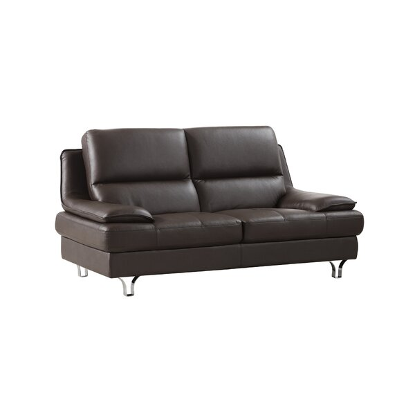 Harrison Leather Loveseat by American Eagle International Trading Inc.
