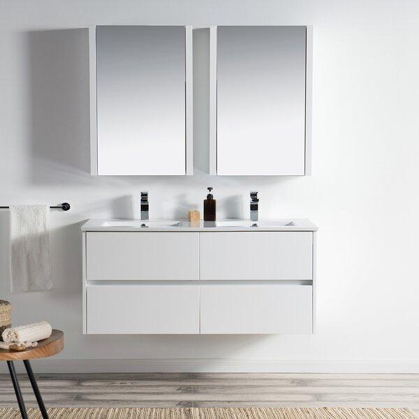 Oquendo 48 Wall-Mounted Double Bathroom Vanity Set with Medicine Cabinet by Orren Ellis