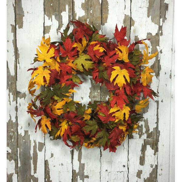 22 Artificial Leave Wreath by Darby Home Co