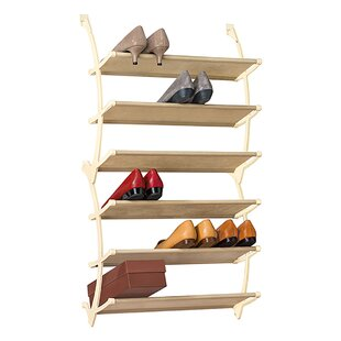 Vela 6 Tier Over Door Shoe Shelves