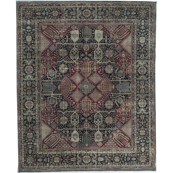 Oriental Hand-Knotted Wool Black/Red Area Rug