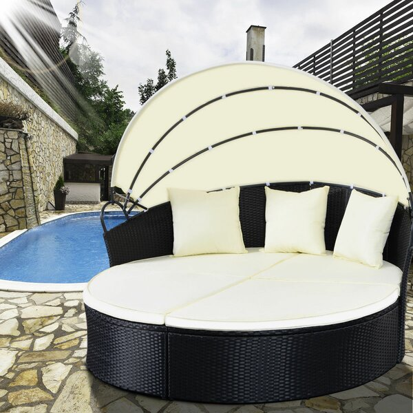 Hamisi Patio Daybed with Cushions by Latitude Run