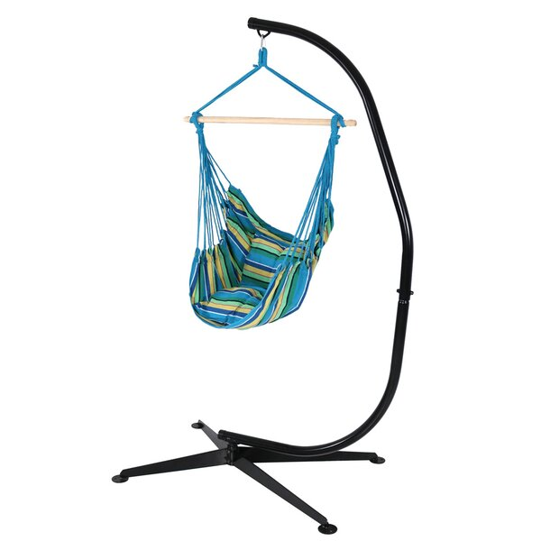 Anton Cotton and Polyester Chair Hammock with Stand by Freeport Park