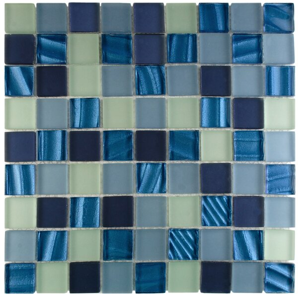 Neptunian 1.19 x 1.19 Glass Mosaic Tile in Blue by EliteTile