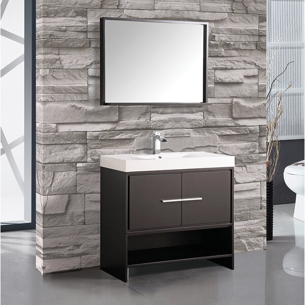 Peirce 36 Single Bathroom Vanity Set with Mirror by Orren Ellis