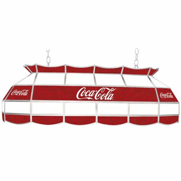Coca Cola Script V1 Vintage 3-Light Pool Table Light by Trademark Global