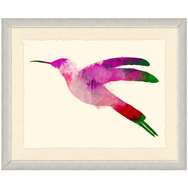 Watercolor Hummingbird Framed Print II by Birch Lane Kids™