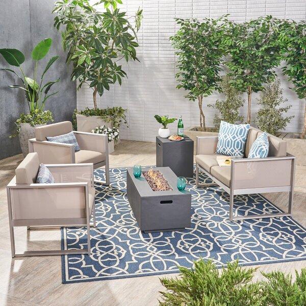 Balducci 5 Piece Sofa Seating Group with Cushions by Latitude Run