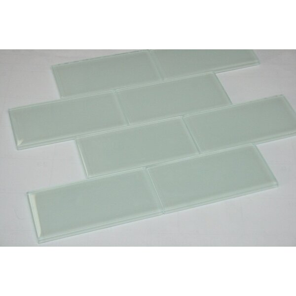 2 x 4 Glass Subway Tile in White by Multile