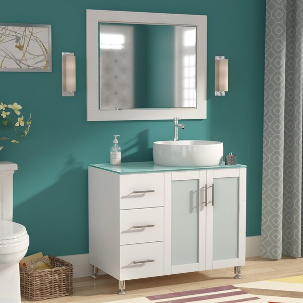 Boswell 36 Single Vanity Set with Mirror by Mercury RowBoswell 36 Single Vanity Set with Mirror by Mercury Row