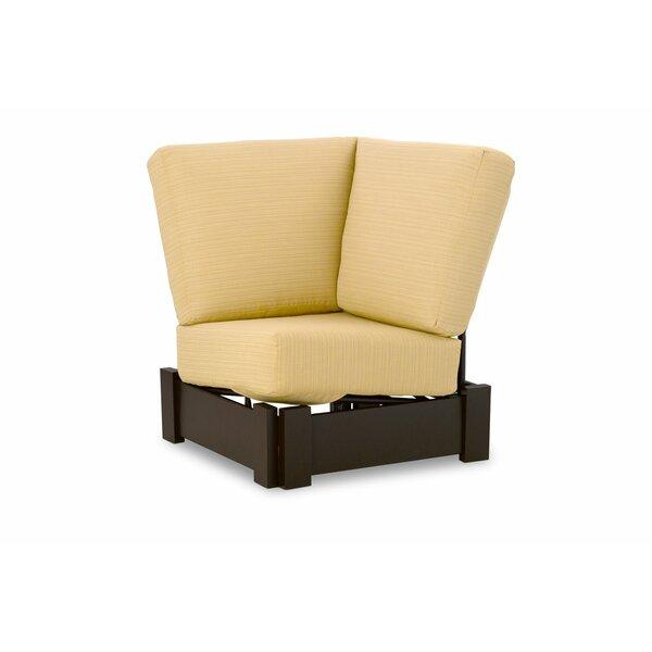 Leeward Marine Grade Polymer Deep Corner Fixed Patio Chair with Cushions by Telescope Casual