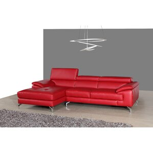 Courtdale Leather Sectional  sc 1 st  Wayfair : red sectional sofa with chaise - Sectionals, Sofas & Couches
