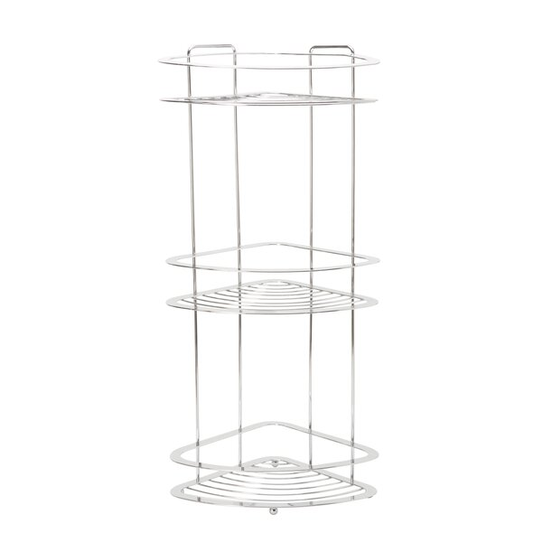 Burgos 11.22 W x 24.65 H Bathroom Shelf by Rebrilliant