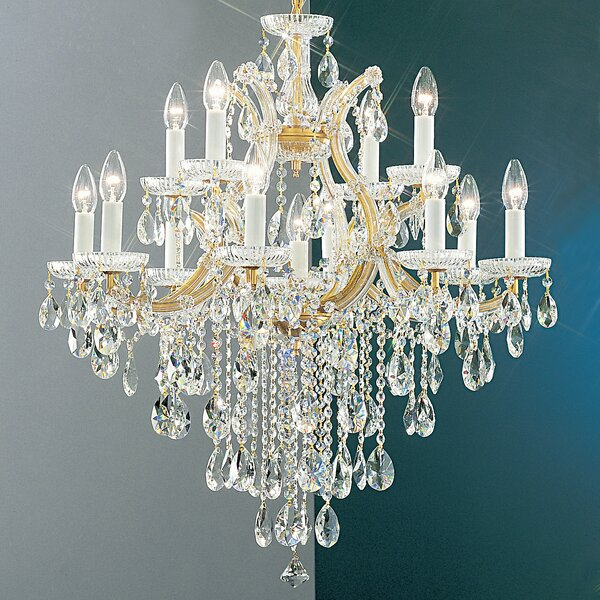 Gregson 13-Light Candle Style Tiered Chandelier by House of Hampton House of Hampton