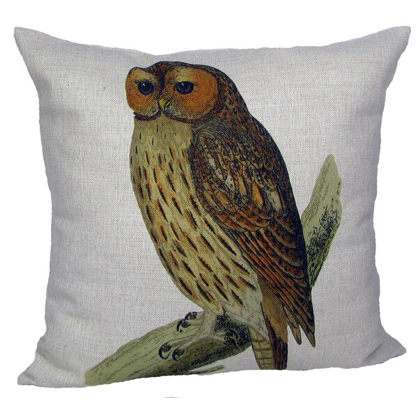 Owl Pillow Cover by Golden Hill Studio