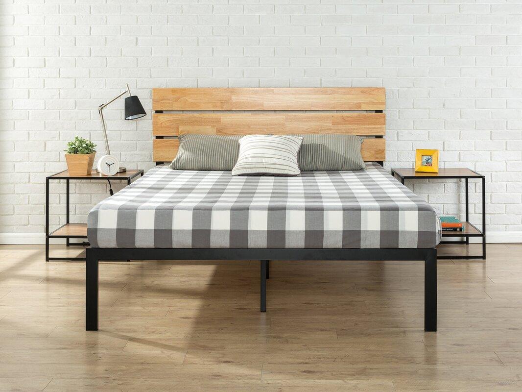 Zinus Sonoma Metal Wood Platform Bed Queen