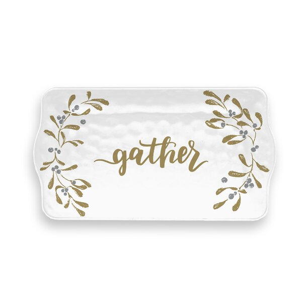 Sneaton Gather Garland Melamine Appetizer Platter