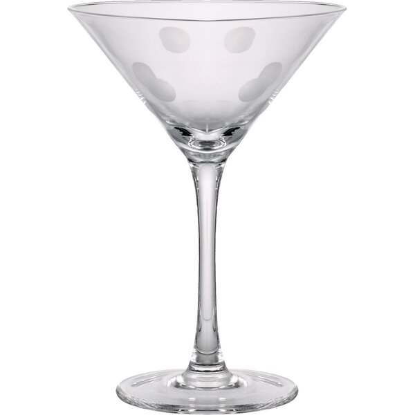Brumit Polka Dot Martini Glass (Set of 4) by Ivy Bronx